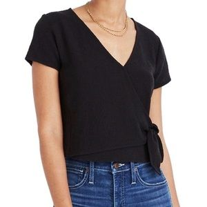 Madewell Texture & Thread Cropped Wrap Top